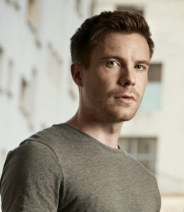 Joe Dempsie as Harry Clarke in DEEP STATE.
